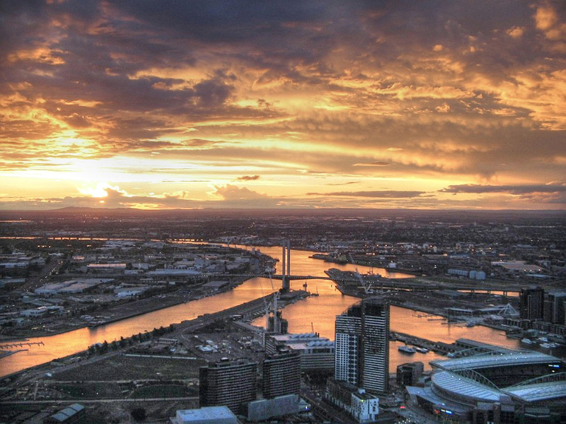 Melbourne from the Rialto Towers