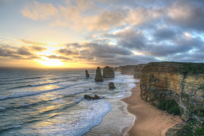 Sunset on the Apostles