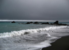 Dark, moody weather, Wairarapa coast