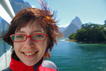 Gerrie after finishing the Milford track